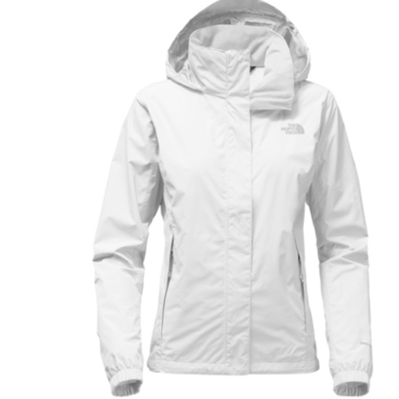 677aafb6a Women's White North Face Windbreaker XS